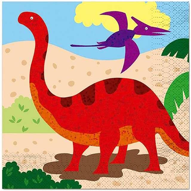 "Serwetki ""Dinozaury"", FYASA, 33 cm, 12 szt"