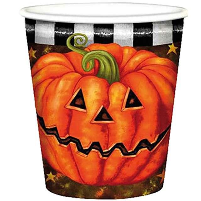 """Kubeczki papierowe """"Dynia Halloween"""", FYASA, 266 ml, 10 szt"""