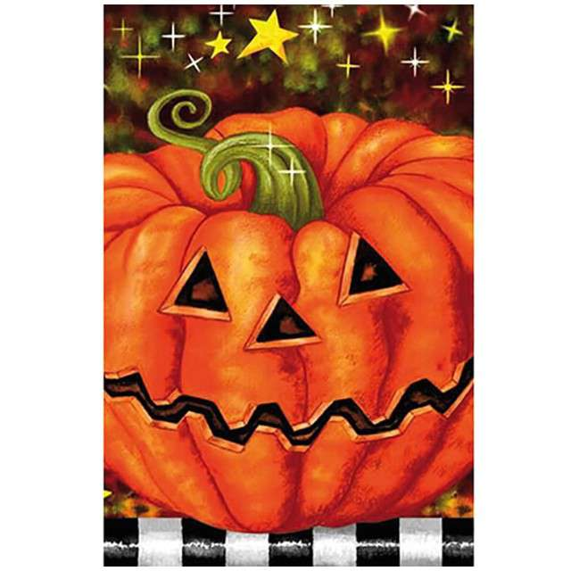 Obrus foliowy Dynia Halloween FunnyFashion 183 x 137 cm
