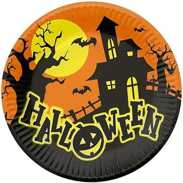 """Talerzyki papierowe """"Halloween"""", FYASA, 23 cm, 6 szt"""