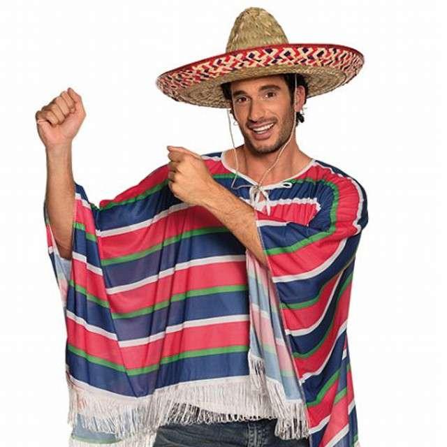 """Strój dla dorosłych """"Ponczo Meksykańskie"""", BOLAND, rozm. M/L"""
