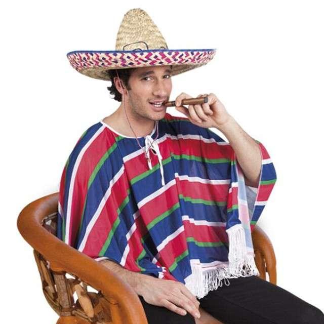Strój dla dorosłych Ponczo Meksykańskie BOLAND rozm. M/L