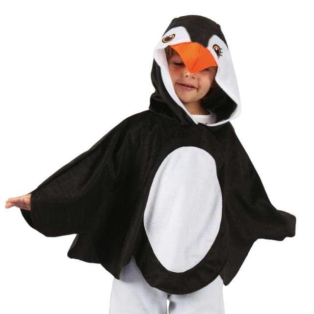 Strój dla dzieci Peleryna Pingwina GODAN rozm. 92/104 cm