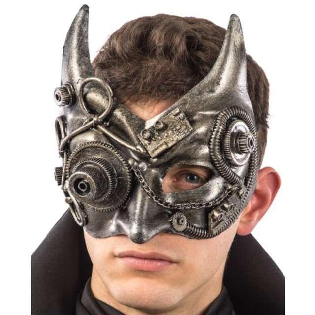 Maska Diabeł Steampunk srebrna Carnival Toys