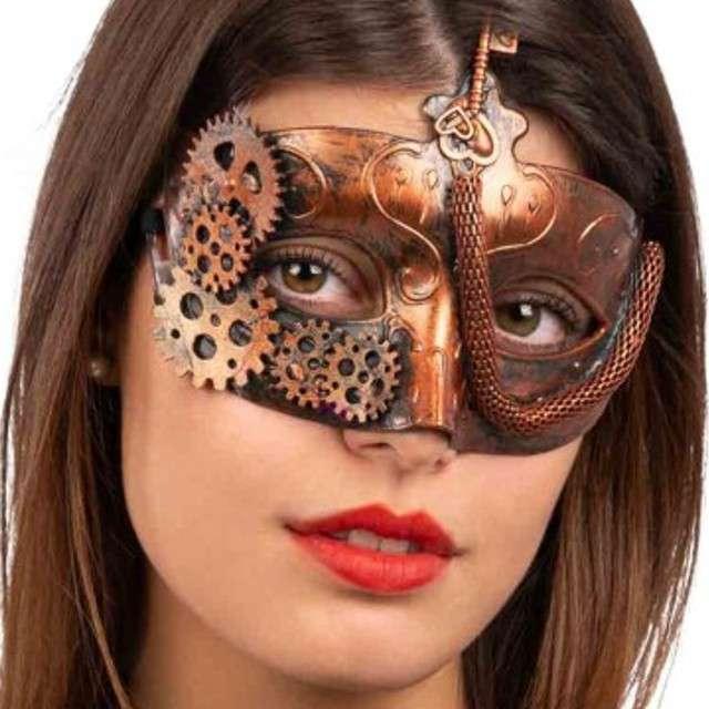 Maska Steampunk brązowa Carnival Toys