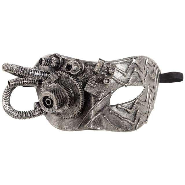 """Maska """"Steampunk"""", srebrna, Carnival Toys"""