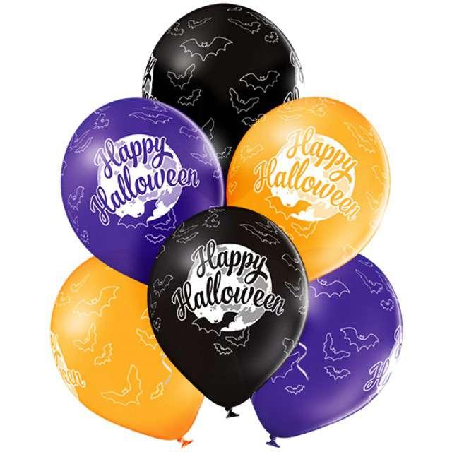 Balony Happy Halloween pastel mix BELBAL 12 6 szt