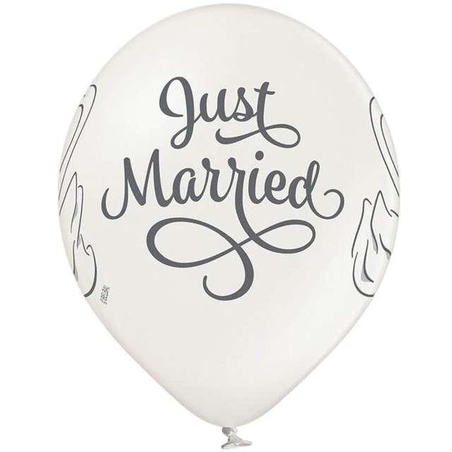 Balony Just Married - Swan pastel biały BELBAL 12 6 szt