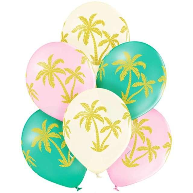 "Balony ""Palmy"", pastel mix, BELBAL, 12"", 6 szt"