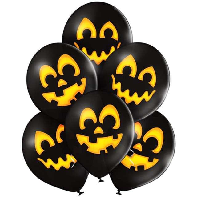 "Balony ""Dynia"", pastel czarny, BELBAL, 12"", 6 szt"
