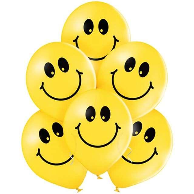"""Balony """"Uśmiech"""", pastel żółty, BELBAL, 12"""", 6 szt"""