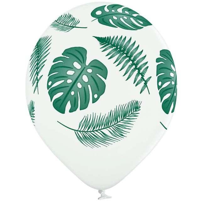 Balony Liście Palmy pastel białe BELBAL 12 6 szt