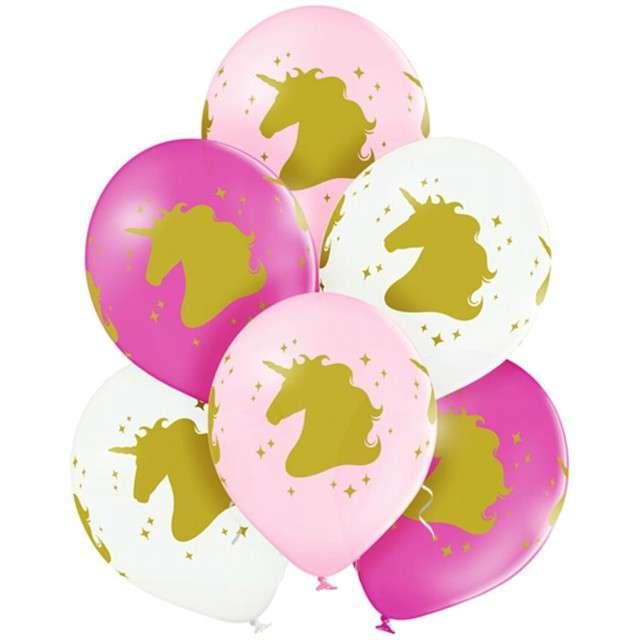 "Balony ""Jednorożce"", pastel mix, BELBAL, 12"", 6 szt"