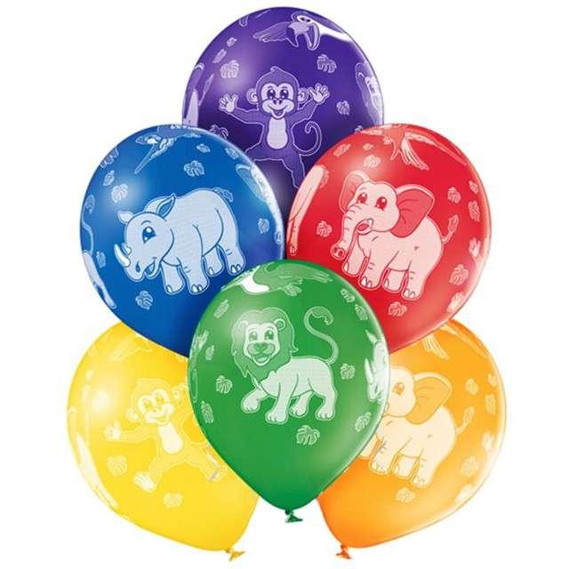 """Balony """"Zwierzęta"""", pastel mix, BELBAL, 12"""", 6 szt"""