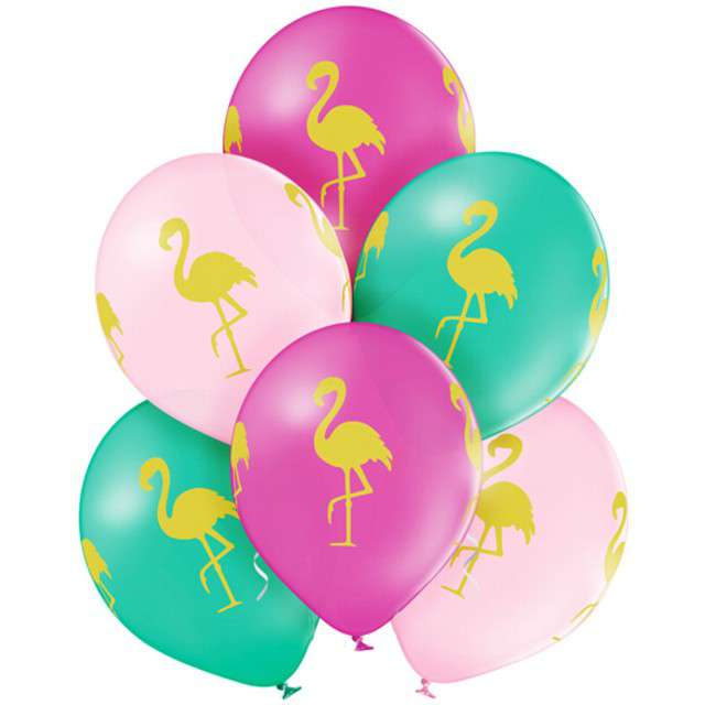Balony Flaming pastel mix BELBAL 12 6 szt