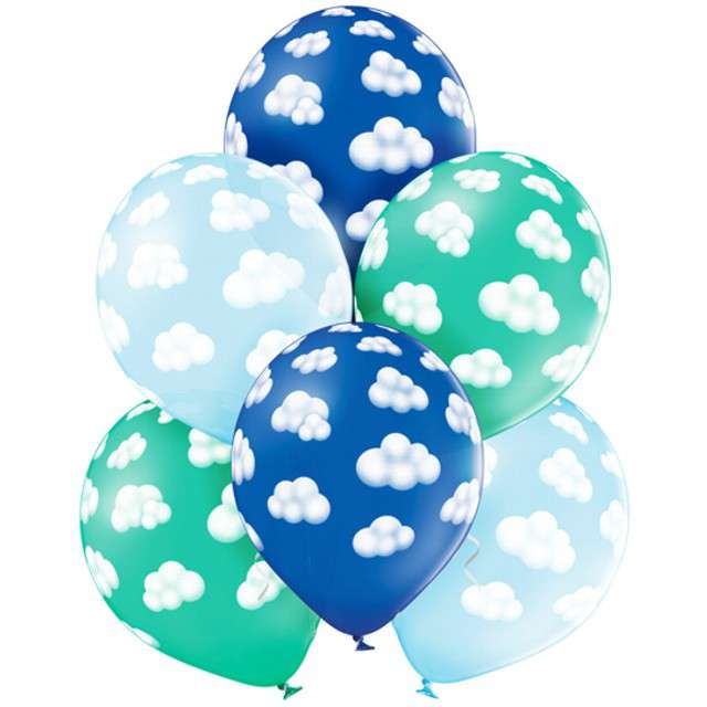 "Balony ""Chmurki Boy"", pastel mix, BELBAL, 12"", 6 szt"
