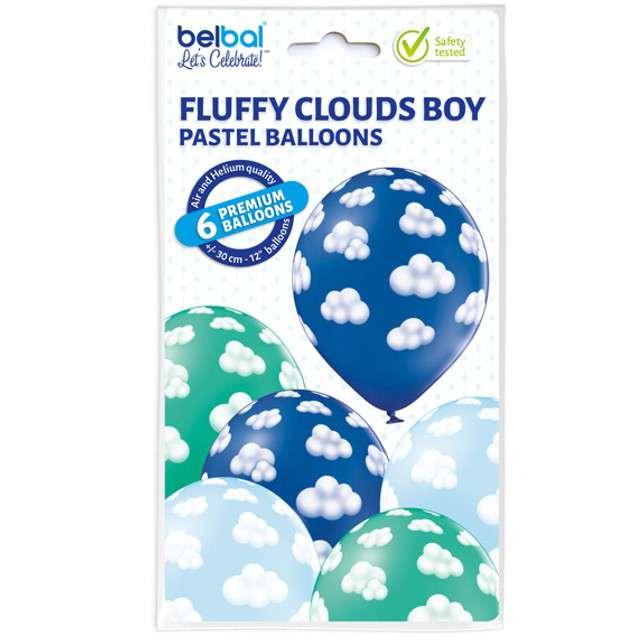 Balony Chmurki Boy pastel mix BELBAL 12 6 szt