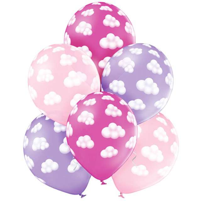 Balony Chmurki Girl pastel mix BELBAL 12 6 szt