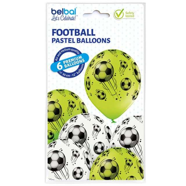 Balony Piłka Nożna pastel mix BELBAL 12 6 szt