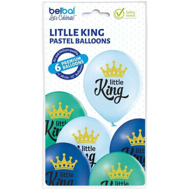 Balony Little King - Chłopiec pastel mix BELBAL 12 6 szt