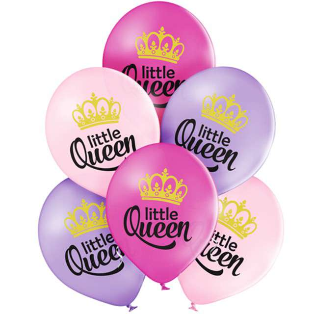 Balony Little Queen pastel mix BELBAL 12 6 szt