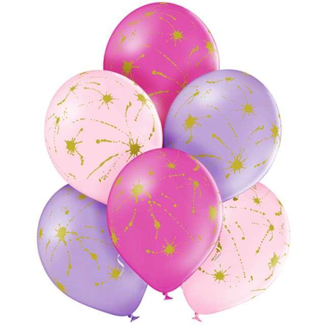 """Balony """"Kleksy"""", pastel mix, BELBAL, 12"""", 6 szt"""