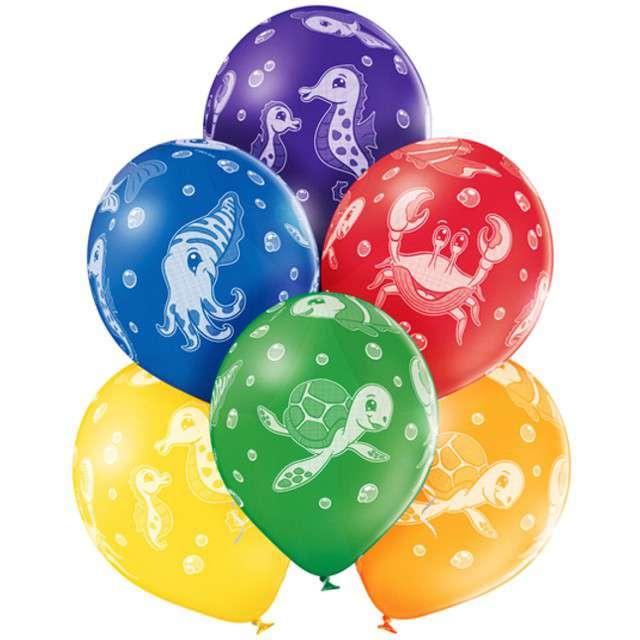"""Balony """"Podwodny Świat"""", pastel mix, BELBAL, 12"""", 6 szt"""