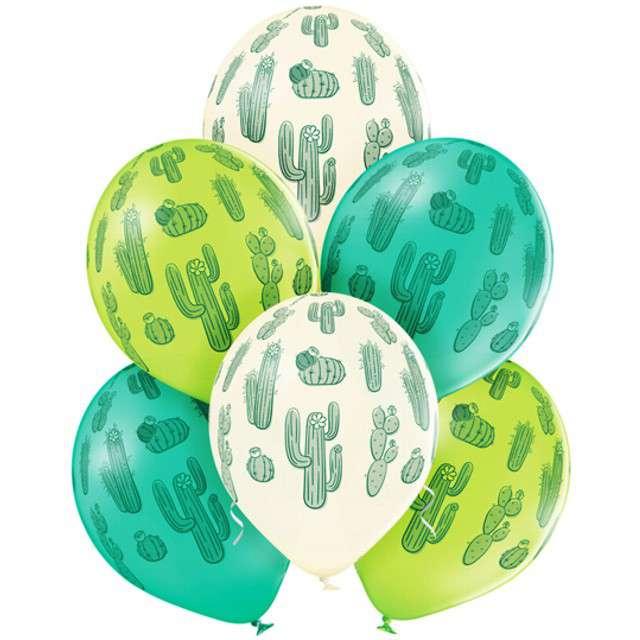 """Balony """"Kaktus"""", pastel mix, BELBAL, 12"""", 6 szt"""