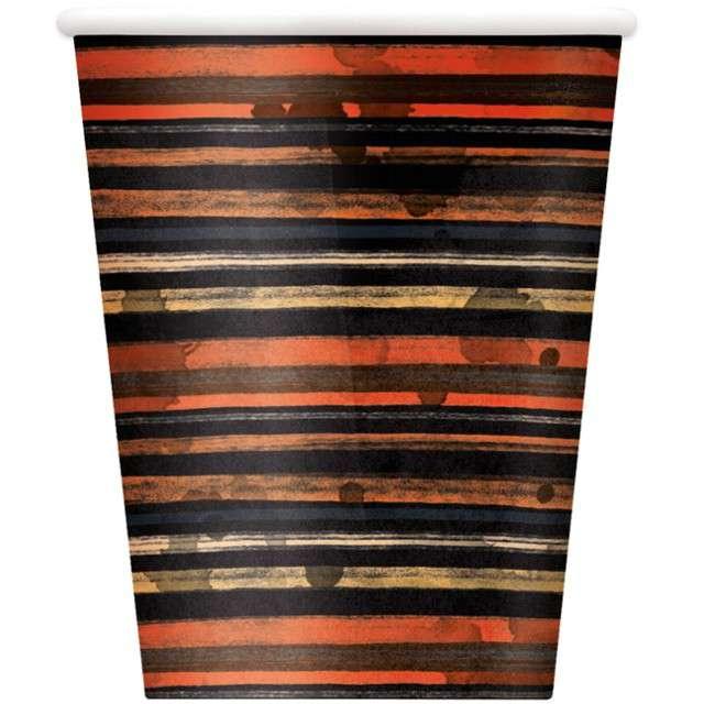 """Kubeczki papierowe """"Pełnia Księżyca - Halloween"""", UNIQUE, 266 ml, 8 szt"""