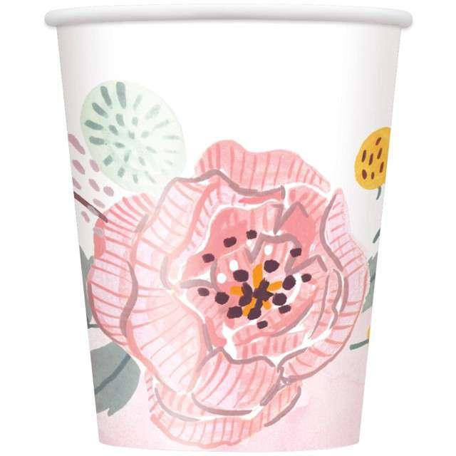 """Kubeczki papierowe """"Mr i Mrs - Kwiaty"""", UNIQUE, 266 ml, 8 szt"""