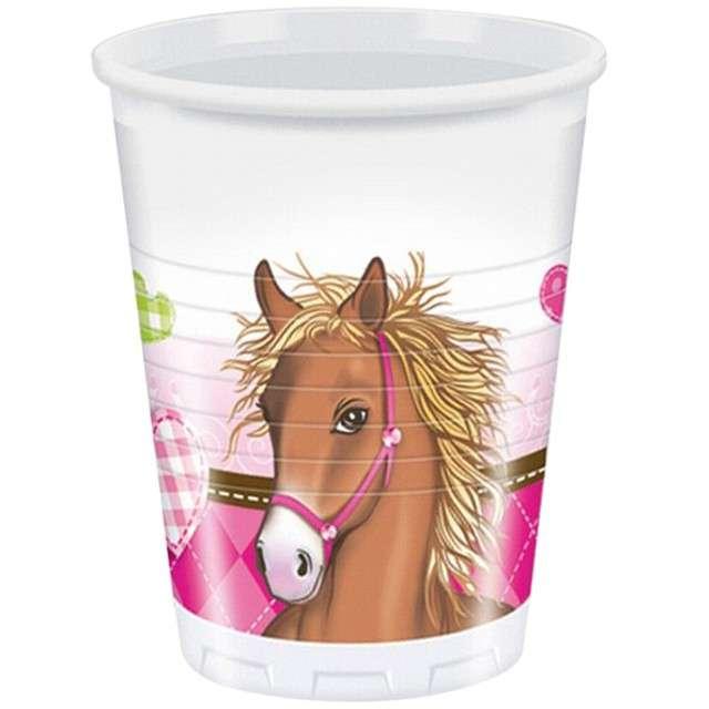 "Kubeczki plastikowe ""Decorata Horses"", PROCOS, 200 ml,  8 szt"