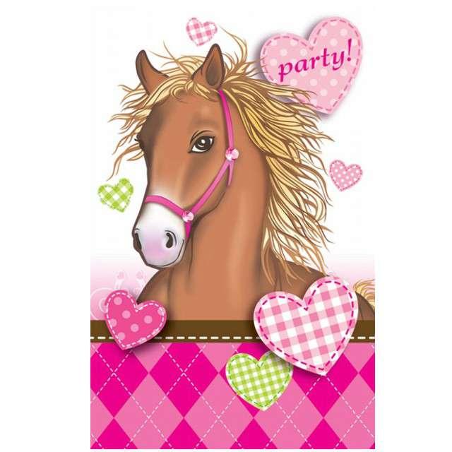 """Zaproszenia urodzinowe """"Decorata Horses"""", PROCOS, 6 szt"""