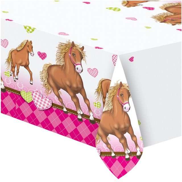 """Obrus foliowy """"Decorata Horses"""", PROCOS, 180x120 cm"""