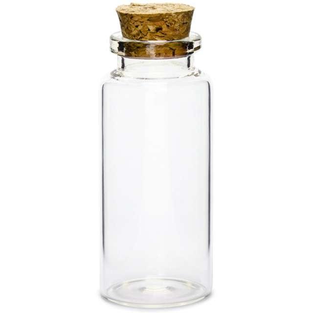 Buteleczka szklana 30x75 mm z korkiem, 12 szt