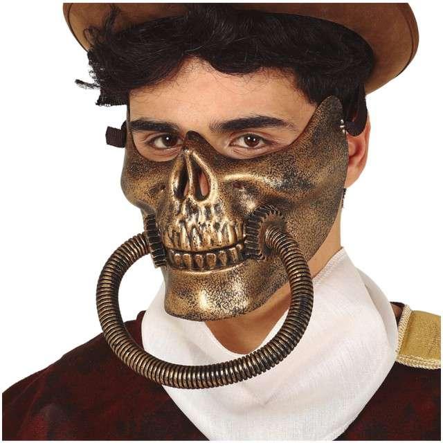 "Maska ""Czaszka- Steampunk"", plastikowa, GUIRCA"