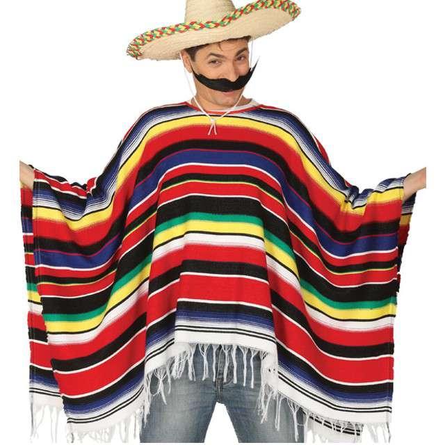 Strój dla dorosłych Ponczo Meksykańskie GUIRCA rozm. L