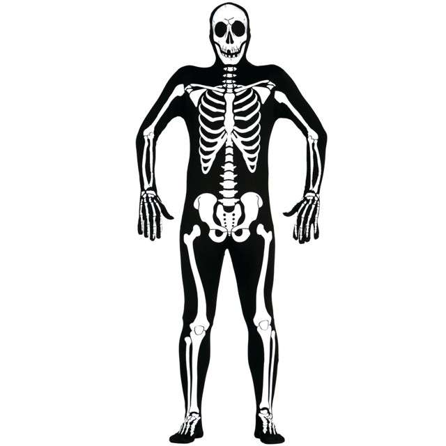 Strój dla dorosłych Second Skin - Szkielet GUIRCA rozm. L