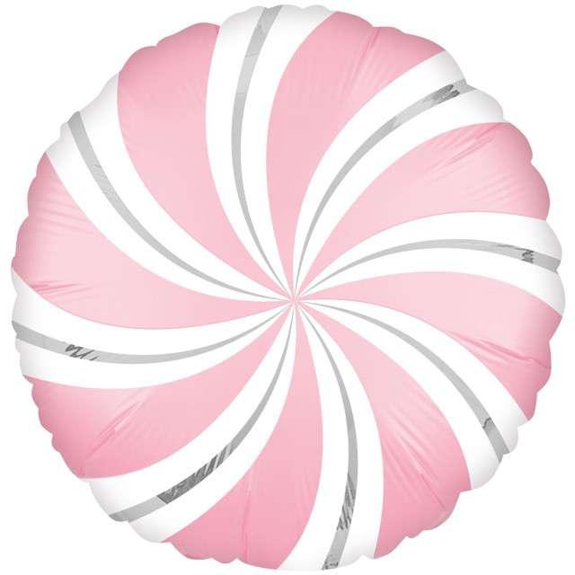 "Balon foliowy ""Lizak Satin"", różowy, AMSCAN, 18"" CIR"