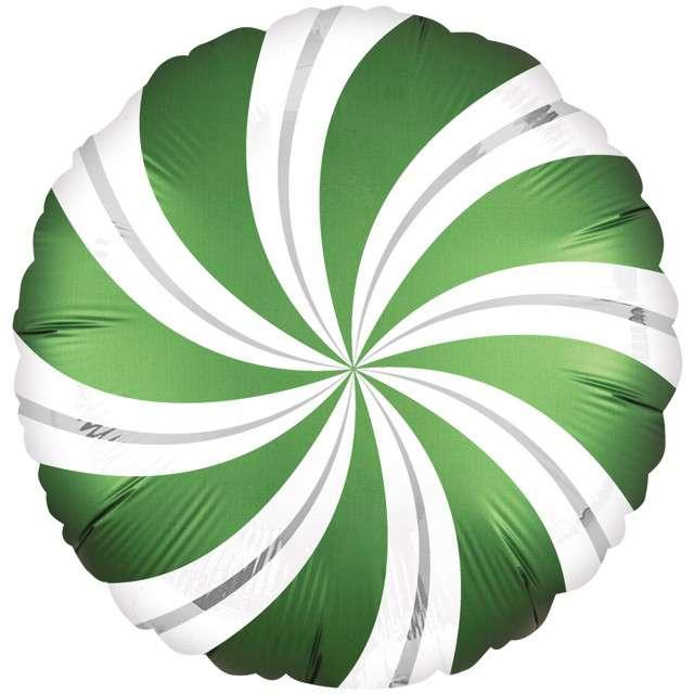 "Balon foliowy ""Lizak Satin"", zielony, AMSCAN, 18"" CIR"