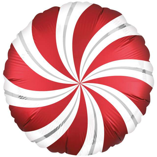 "Balon foliowy ""Lizak Satin"", czerwony, AMSCAN, 18"" CIR"