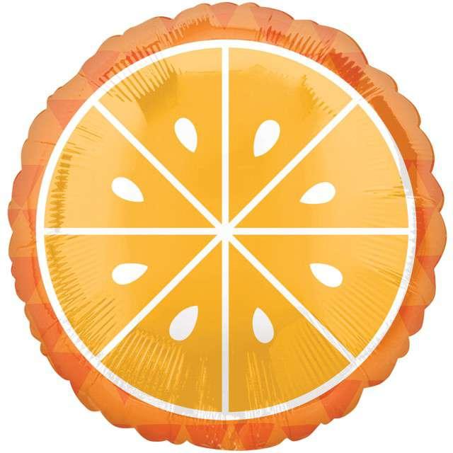 Balon foliowy Pomarańcza AMSCAN 18 CIR