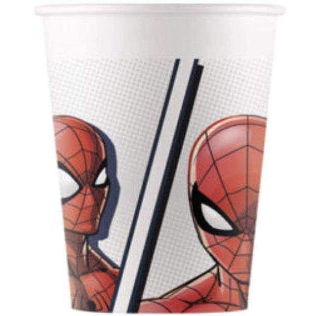 "Kubeczki papierowe ""Spiderman - Super Hero BIO"", PROCOS, 200 ml, 8 szt"