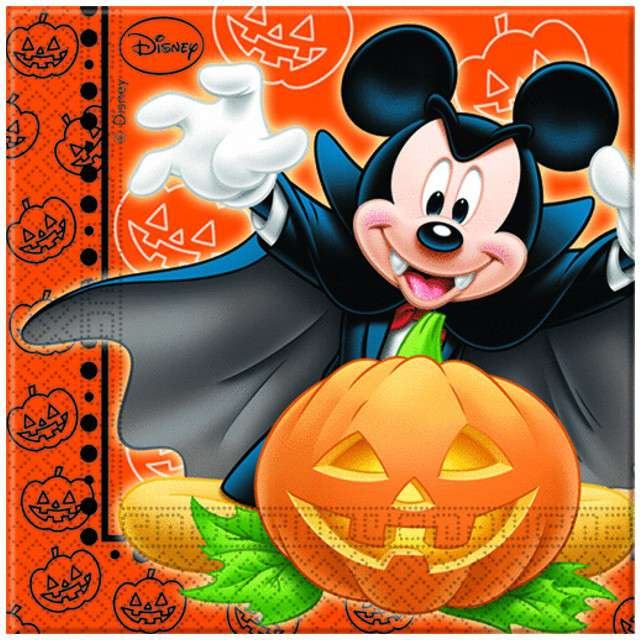 "Serwetki ""Myszka Mickey Halloween"", PROCOS, 33 cm, 20 szt"