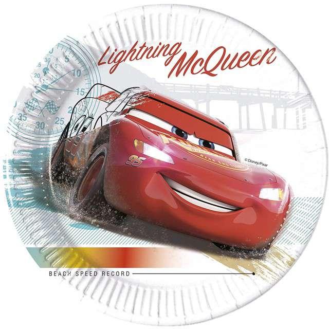 """Talerzyki papierowe """"Cars - High Speed"""", PROCOS, 23 cm, 8 szt"""