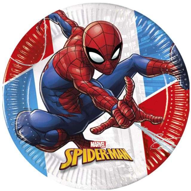 """Talerzyki papierowe """"Spiderman - Super Hero BIO"""", PROCOS, 23 cm, 8 szt"""