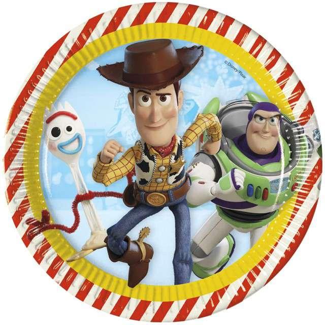 """Talerzyki papierowe """"Toy Story 4"""", PROCOS, 23 cm, 8 szt"""