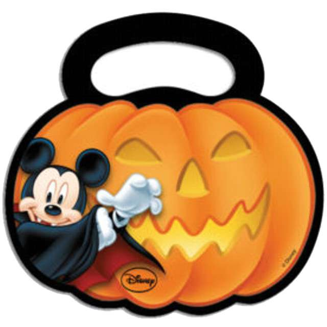 """Torebki foliowe """"Dynia - Myszka Mickey Halloween"""", PROCOS, 6 szt"""