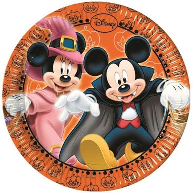 """Talerzyki papierowe """"Myszka Mickey Halloween"""", PROCOS, 20 cm, 8 szt"""