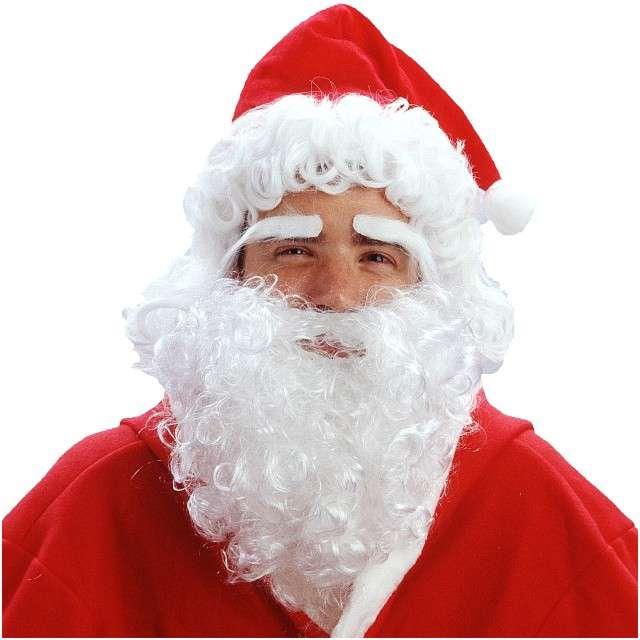 """Peruka party """"Mikołaj w Czapce"""", białe, GODAN"""