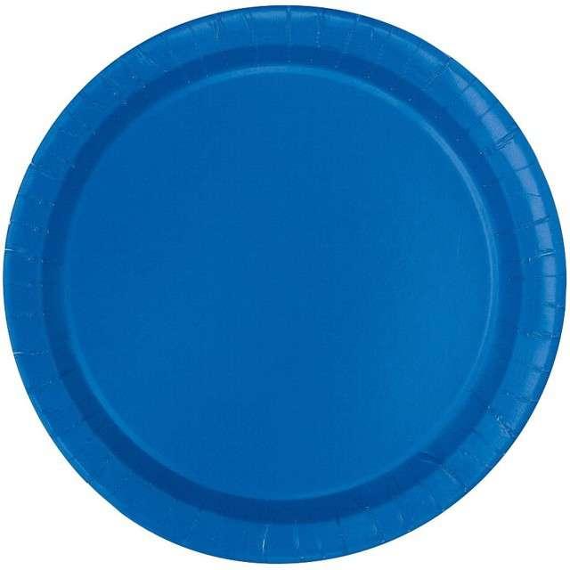 """Talerzyki papierowe """"Classic"""", niebieskie, UNIQUE, 18 cm, 20 szt"""
